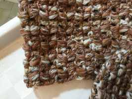 041 Snood et bonnet marron