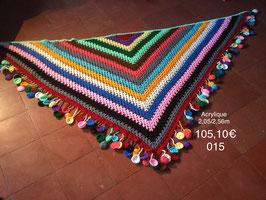 015 Châle multicolor