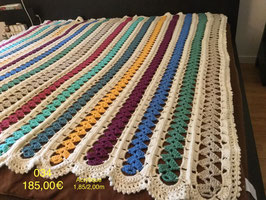 034 Couverture bandes multicolor