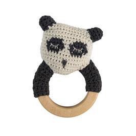 "Häkelrassel ""Panda"""