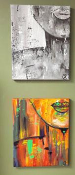 Up Close schilderij