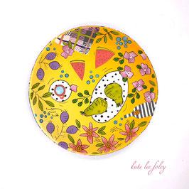 Picnic jewellery bowl - Yellow