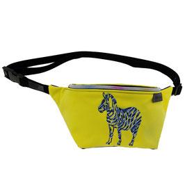 Gürteltasche - Bauchtasche - Zebra softshell gelb
