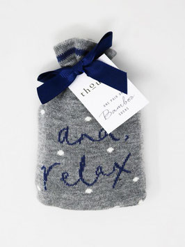 THOUGHT And relax Socks in a bag, grey