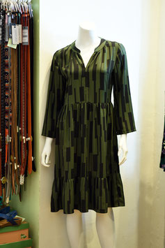Kleid ANTONIA olive/schwarz