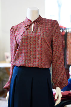 Bluse MARLENE rot/Muster