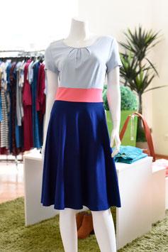 LASARE Kleid ELLA eisblau/koralle/blau