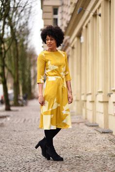 LASARE Blusenkleid RIA, gelb/Muster
