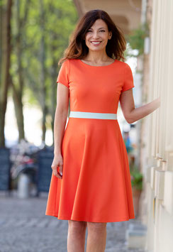 LASARE Kleid AVA orange/creme