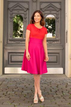 LASARE Kleid ELLA rot/pink