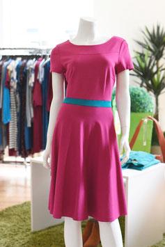 LASARE Kleid AVA pink / smaragd