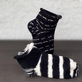 Sockenpaar Zebra-Igel Junior Größe 34/35
