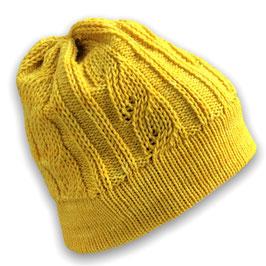 Mütze mit Schummelzöpfen für Grobstricker