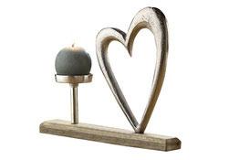 """""""GILDE"""" Kerzenständer mit Herz"""