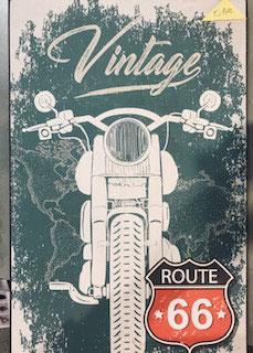 Holzschild Motorrad Route 66