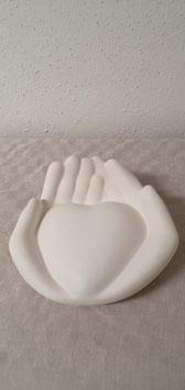 Gilde Keramik Händepaar Herz