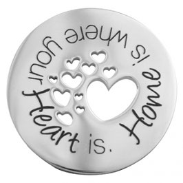 "Style Repubilc Coin Scheibe "" Home is where your Heart is"""