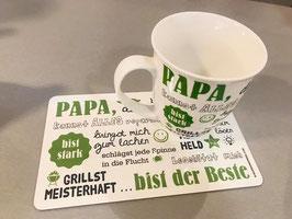 Gilde Papa Tasse und Brettchen