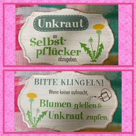 """""""Gilde"""" Blechschild Garten"""