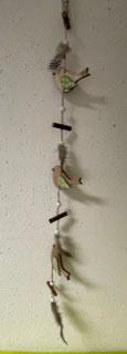 """""""Gilde"""" Holzgirlande mit Vogel zum Hängen"""