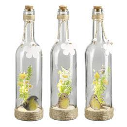 """""""GILDE"""" Flaschenpost """"Vogelwiese"""" natur/gelb /weiß/grün"""