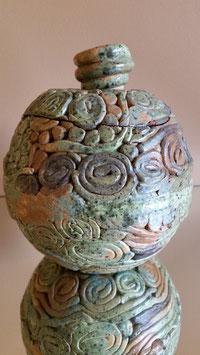 Vintage Art Nouveau Vase, Unusual Vase art nouveau Ceramics and Pottery, Collectible Art Object - Ceramic Bowl Artistic Design