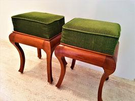 Amazing Pair of Vintage French Louis XV Style Vanity/Dresser Stool