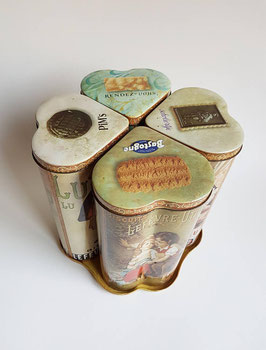 RARE Cookie tins by LU, Lefèvre-Utile. Vintage French biscuits container-tin