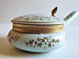 Vintage Porcelain Enamel Silent Butler / Crumb Catcher / Ash Tray