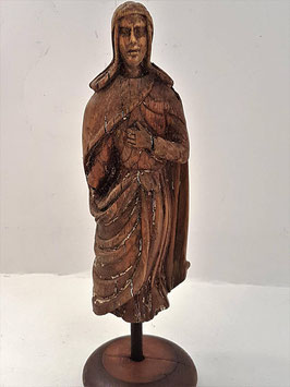 Impressive Early 18th Century Antique Wood Carving Sculpture of St John