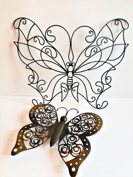 LARGE Vintage Butterfly Wall Art, Butterfly Garden Art, Wall Sculpture