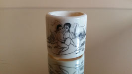 Antique Chinese hand carved Ivory Archer's ring