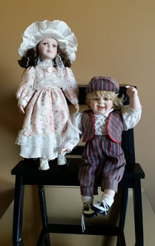 Lot of two Antique doll, Vintage doll, German doll, French doll