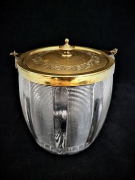 Antique English cut glass biscuit barrel circa 1910, Antique English Biscuit Jar