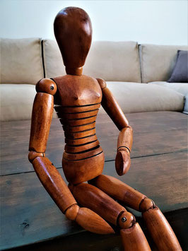 RARE French articulated Artist's mannequin wooden doll