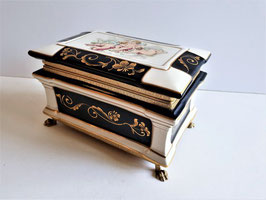 LARGE Limoges Enameled Porcelain Box, 19th Century Limoges Box