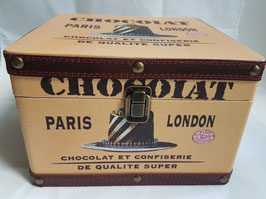 Vintage Chocolate Cocoa Wooden Box Crate, Chocolate storage box