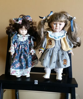 Lot of two Antique doll, Vintage doll, German, French doll, Porcelain doll, doll collection. Porcelain face dolls