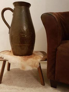 LARGE Antique Solid Copper Pitcher Ewer Hammered Arts & Crafts