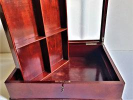 Large Glass and Mahogany Glass Top Box, Display Case - Vintage Shadow Box