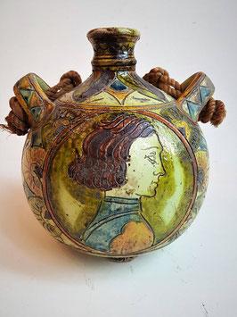 Antique circa 18th century Faenza drug jar