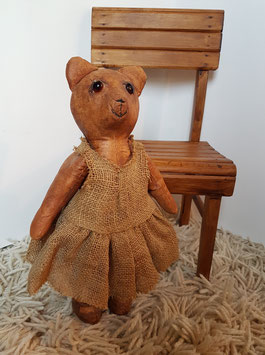 OOAK Teddy Bear rare and unusual Old Vintage, Antique Teddy Bear leather German or Russian Teddy collectible