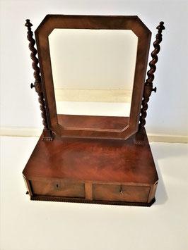 Beautiful Original Antique Mahogany Barley Twist Victorian Table Top Mirror