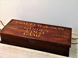 Collecter's item, Croquet Set In Original Wooden Chest, Vintage Bamboo Polo Mallets, J. Salter and Son of Aldershot England