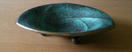 WMF Ikora Art Deco Antique Design Plate, Fine dining, Table Centerpiece Turquoise, Brass Bronze, Vintage Art deco design, table center piece