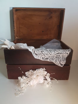 TWO Vintage memory Chests,Wooden Chest, Keepsake Box