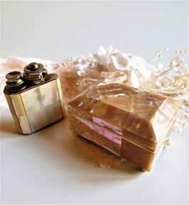 Vintage Splendor Marque Deposee Perfume Atomizer Switzerland and Antique English Mother of Pearl jewelry box circa 1890