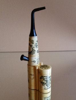 Antique Chinese bone Tobacco Opium Smoking Pipe, Chinese water pipe opium pipe