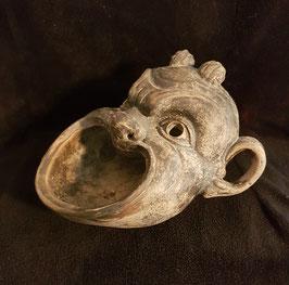 Antique Bacchus (Greek god of vine) drinking vessel