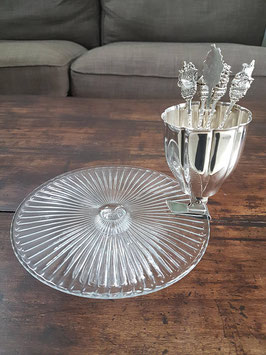 Victorian Silver Utensil holders cake stand clip, Fork holder clip Cake stand table décor